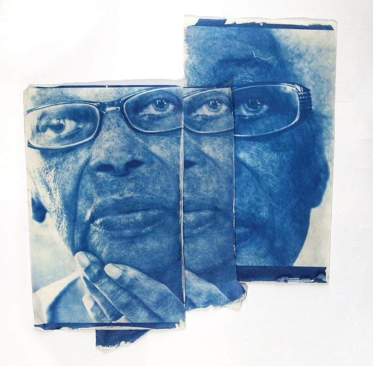 Alzheimers demantia art artist work cyanotype print