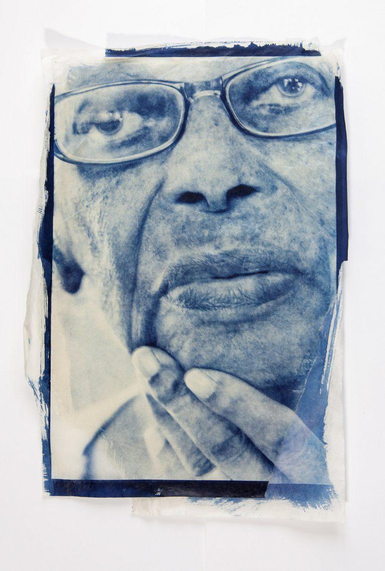 art exploring dementia cyanotype print Alzheimers