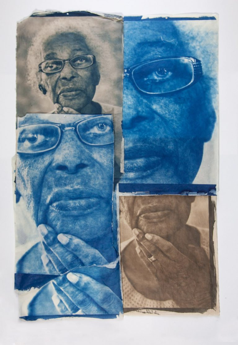 cyanotype prints portrait dementia art artist